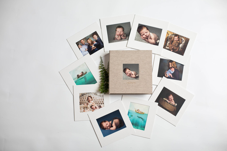 Utah photographer Loni Smith fine art newborn photo album