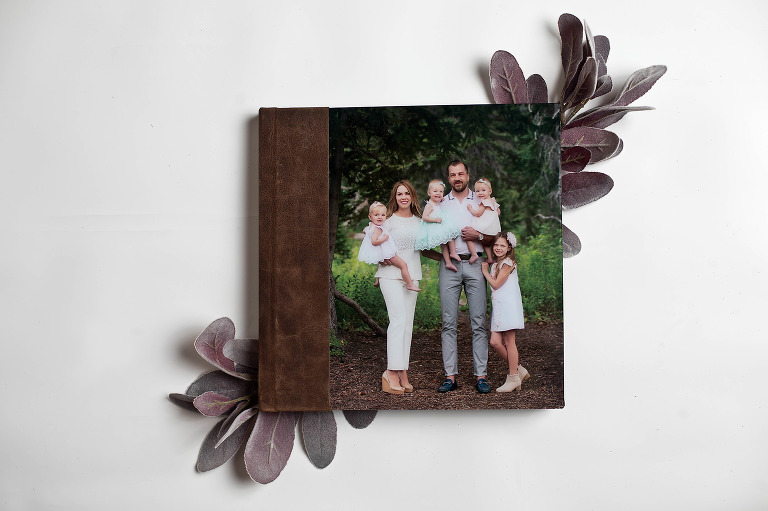 Utah photographer Loni Smith fine art family photo album