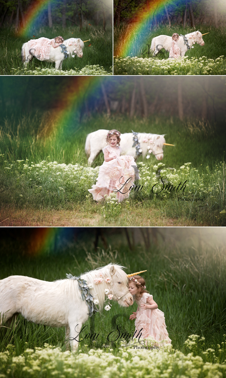 magical unicorn session with Utah photographer Loni Smith