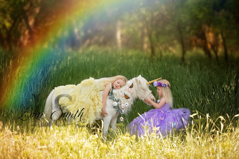 Whimsical unicorn photography by one of the best photographers in Utah, Loni Smith